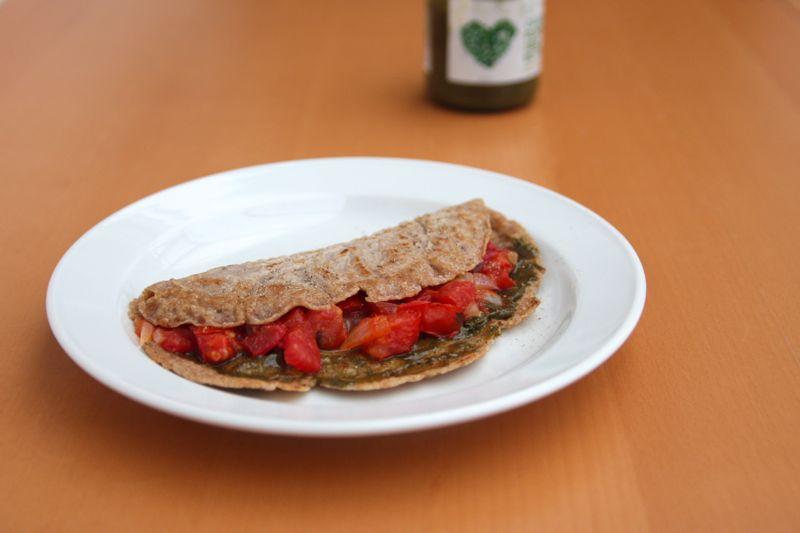 Pfannkuchen mit Kürbiskernmus