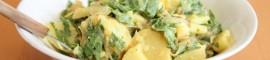 Kartoffelsalat mit Rucola und Senfdressing